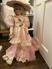 Vintage 34 Inch Tall Rustie Doll In Pink Satin
