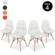 Pack 4 Sillas de comedor de diseño Nordico y acolchadas estilo Tower – McHaus