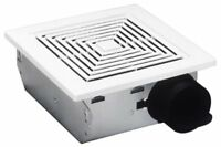 Broan 688 Ceiling and Wall Mount Fan, 50 CFM 4.0 Sones, White Plastic Grille