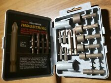 VTG Craftsman Industrial Bit Set Power Bits Nutdrivers Tools Sears 18 pieces