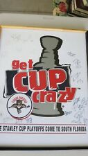 NHL Florida Panthers team SIGNED poster 1996 Stanley Cup Runner Up Year