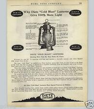 1924 PAPER AD 6 PG Dietz Lanterns Store Display Rack Stand Kerosene Signal Oil