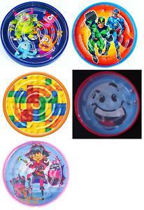 Mini Maze Puzzle Ball Mind Game Labyrinth Toy - Superhero Brick Monster Smile