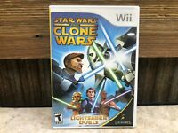 Star Wars: The Clone Wars Lightsaber Duels - Nintendo Wii -COMPLETE - TESTED #3