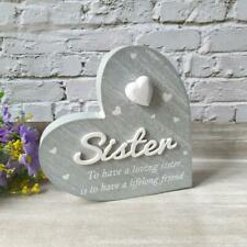 Cherished Hearts Cool Grey Sister Plaque