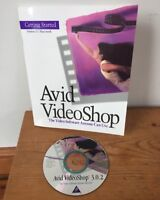 1995 Avid VideoShop 3.0.2 Macintosh Mac Video Editing Software CD W/ Manual