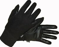 Ryda Childrens Winter Leather Horse Riding Gloves Fleece Backed