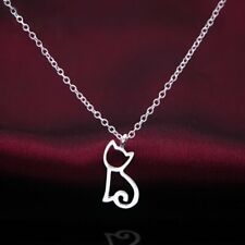 Charm Women Hollow Cat Animal Silver Chain Pendant Choker Necklace Jewelry Gift
