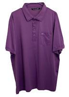 Travis Mathew Mens XXL Pima Cotton Blend Purple Polo Short Sleeve Golf Shirt
