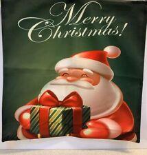 Christmas Pillow Cover Fits 18x18 Pillow Santa Merry Christmas Home Decor