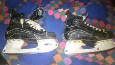 mission black fly hockey skates size 8