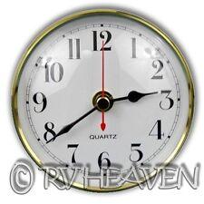 Caravan Wall Clock, 100mm Diameter, Gold & White Camping jayco coromal boat