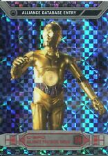 Star Wars Chrome Perspectives X-Fractor Parallel Base #5R C-3PO