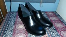 DANSKO Size 41 Black Leather clogs slip on shoes New no box