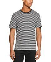 DKNY Men's Feeder Stripe T-Shirt Dark Denim or Chrome Heather All Sizes $39