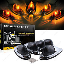 5 Amber Teardrop Cab Roof Clearance Marker Light For Chevy Dodge Ram Pickup Truc