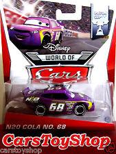Disney Cars Diecast N20 Cola No. 68 Purple Toy Mattel Piston Cup Racer 2014