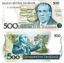 Bresil BRAZIL BRASIL Billet 500 CRUZADOS 1987 P212 VILLA LOBOS NEUF UNC