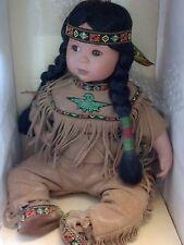 Danbury Mint Native Americian Doll Brave and Free Artaffects By Perillo box
