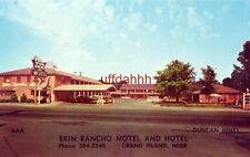 """ERIN RANCHO MOTEL AND HOTEL, GRAND ISLAND, ME. L S """"Pat"""" Murphy, Pres."""