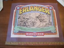 """Vintage Erlanger Marzen Bier Poster The Stroh Brewery Co. 18"""" X 21 1/2""""Colorfull"""
