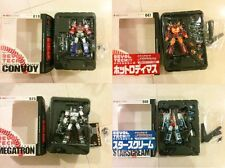 Revoltech Transformers Optimus Prime, Rodimus, Starscream, Megatron (all MIB)