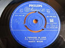 MINIGROOVE PHILIPS 1959 1stPUB, 45rpm MARTY WILDE PB926 A TEENAGER IN LOVE/DANNY