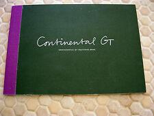 BENTLEY CONTINENTAL GT FEATURES BOOK SALES BROCHURE CATALOG 2011 USA EDITION