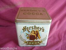 Vintage HERSHEY'S COCOA TIN BRISTOL WARE HK CHOCOLATE CANDY TEA COFFEE retro