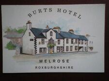 POSTCARD ROXBURGHSHIRE MELROSE - BURTS HOTEL