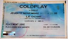 COLDPLAY : billet ticket concert FRANCE Marseille 17/11/2005