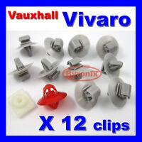 VAUXHALL VIVARO SIDE DOOR MOULDING EXTERIOR TRIM CLIPS SET
