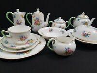 Crown Staffordshire Floral Bouquet Tea Service Porcelain England (12)