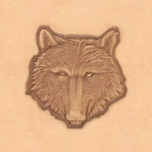 Ivan 3D Leather Stamp - Wolf Head  (88459-00)