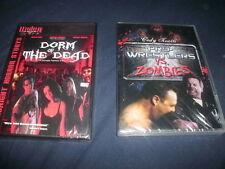 Lot of 2 DVDs-Pro Wrestlers vs Zombies Roddy Piper, Jim Duggan, Dorm of the Dead