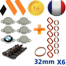 6x BOUCHONS CLAPET D'ADMISSION  32 MM BMW + JOINTS E46 E90 E91 E92 E60  X3 X5