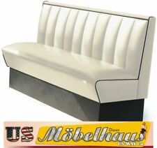 HW-150-White American Diner Bench Seating Furniture USA Style Catering