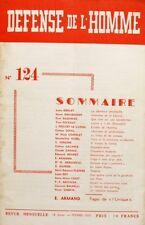Défense de l'Homme n°124 - 1959 - Chevalerie Moderne - Communisme Russe