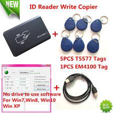 USB 125KHZ RFID EM Card Reader Writer Copier Duplicater Clone T5577 Programmer