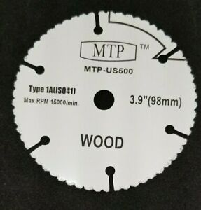Ultra-Saw 4 in Dia Wheel Wood/Plastic Carbide Blade Circular For Dremel US500-01