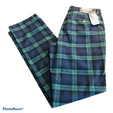 Vineyard Vines Mens Cotton Stretch Breaker Pants Blackwatch Plaid 34x34 $125 NWT