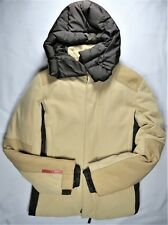 PRADA Mens Quilted Down Jacket EU 48 Brown Duck Feathers Italy Parka Puffer EUC