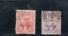 Haiti  - 2 stamps - manuscript cancels