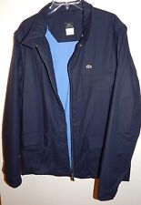 LACOSTE MEN'S NAVY PADDED JACKET DEATACHABLE SLEEVES sz 7(58) XXL NEW AUTHENTIC