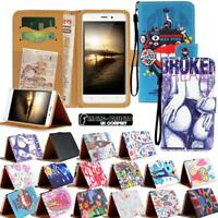 For Various Blackview Phones - Leather Wallet Card Stand Flip Case Cover + Strap
