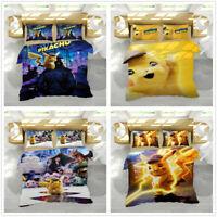 3D Anime Print Kids Bedding Set Duvet/Quilt Cover Pillowcase Set Christmas Gift