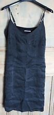 Ladies 'Mais il est ou le soleil' Grey Silk Strappy Dress Size M