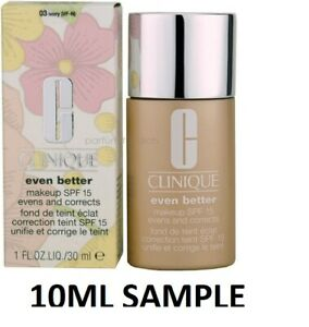 CLINIQUE EVEN BETTER FOUNDATION 03 IVORY VF-N  10ML SAMPLE FRESH PLEASE SEE PHOT
