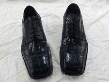 David Eden Crocodile dress shoes men's size 11 1/2 black excellent condition