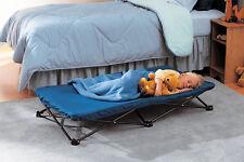Toddler Bed Sheet Folding Cot Sleepover Boy Kids Child Travel Case Portable Blue